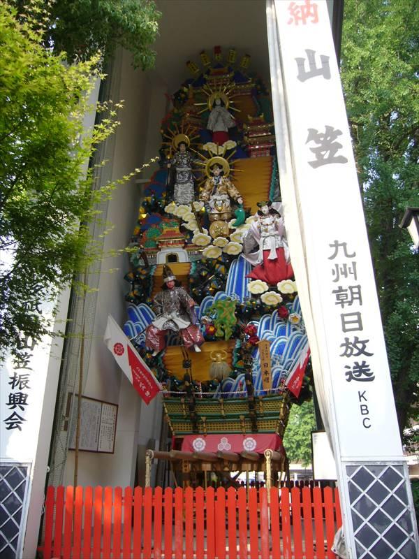 櫛田神社飾り山笠裏