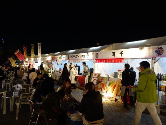 福岡城さくらまつり2015(夜桜)屋台2