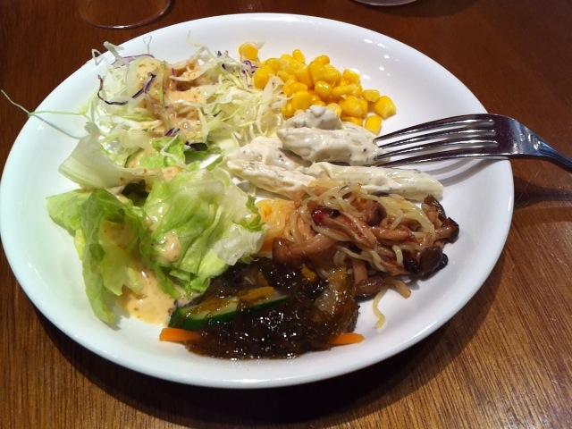 ザ・グローバルブッフェ クーリア食事1