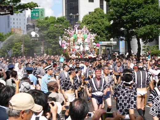 博多祇園山笠2013集団山見せ11