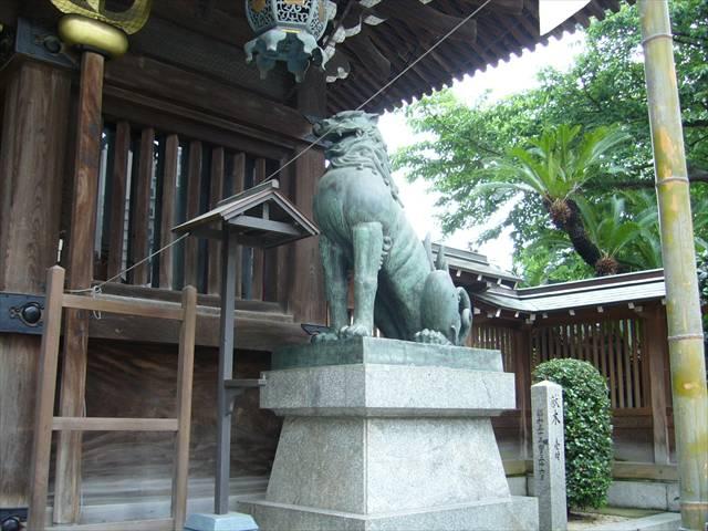 櫛田神社楼門狛犬右