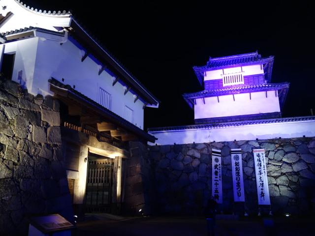 福岡城さくらまつり2015(夜桜)下之橋御門2