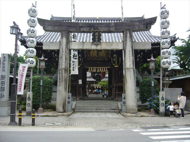 櫛田神社楼門鳥居