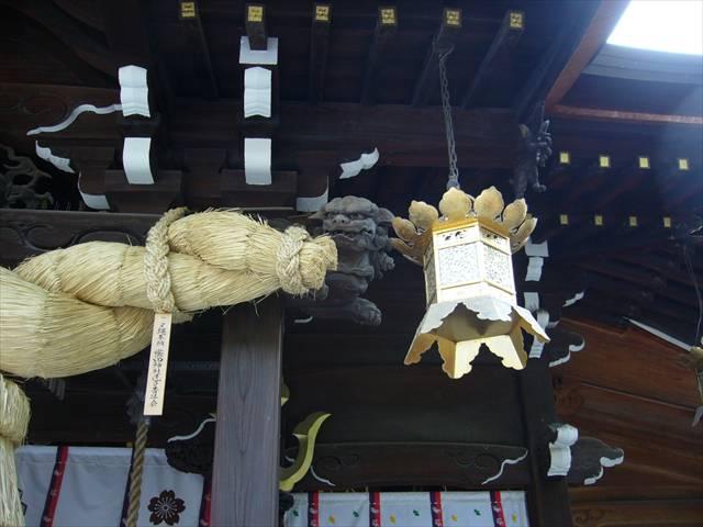 櫛田神社拝殿狛犬右