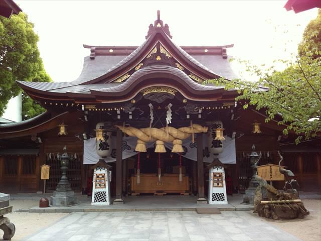 櫛田神社本殿拝殿
