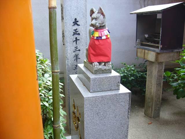 櫛田神社注連懸稲荷神社左