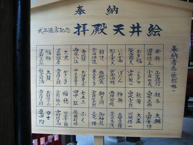 櫛田神社拝殿天井絵説明