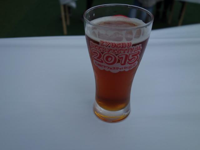 九州ビアフェスティバル2015ビールと唐揚2