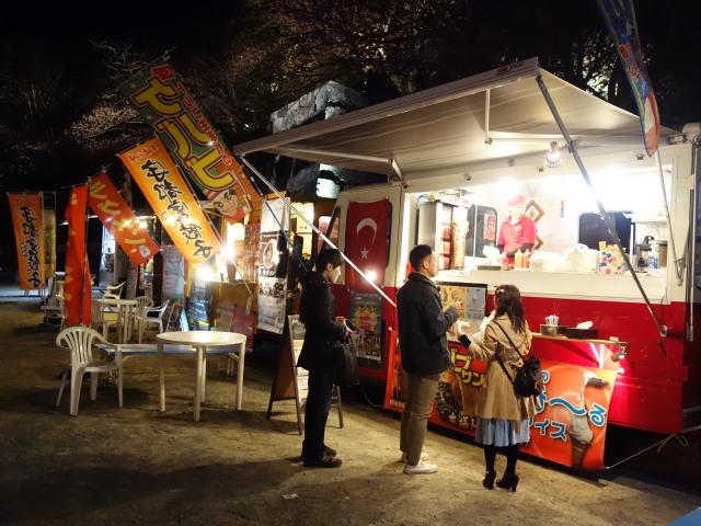 第7回 福岡城さくらまつり夜桜屋台20